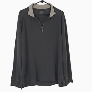 Men's J. Crew 1/4 Zip Pullover Cotton Sweater XL